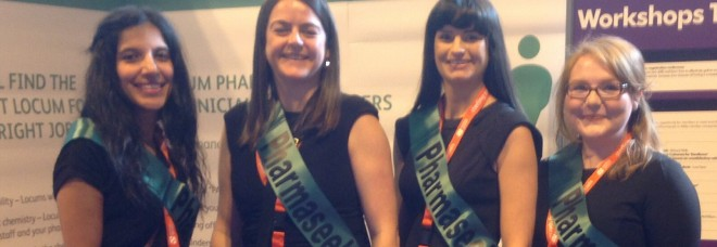 The Pharmaseekers girls at the Pharmacy show, NEC, October 2014